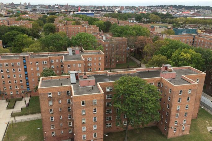 Aerial view of the Red Hook Houses