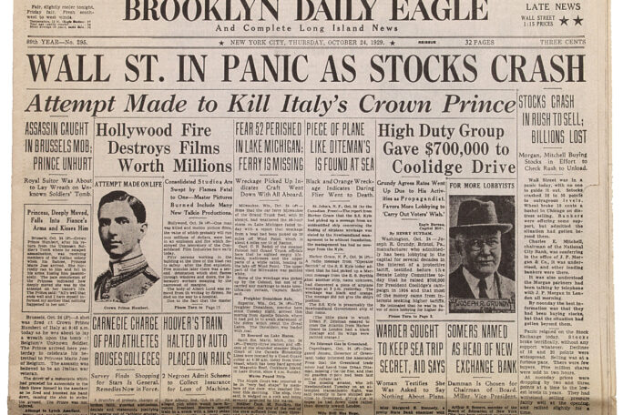 Image of Brooklyn Daily Eagle newspaper from 1929