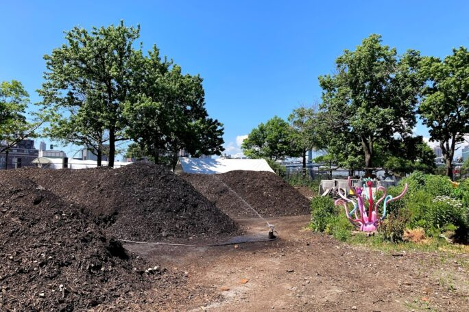 Image of the compost yard