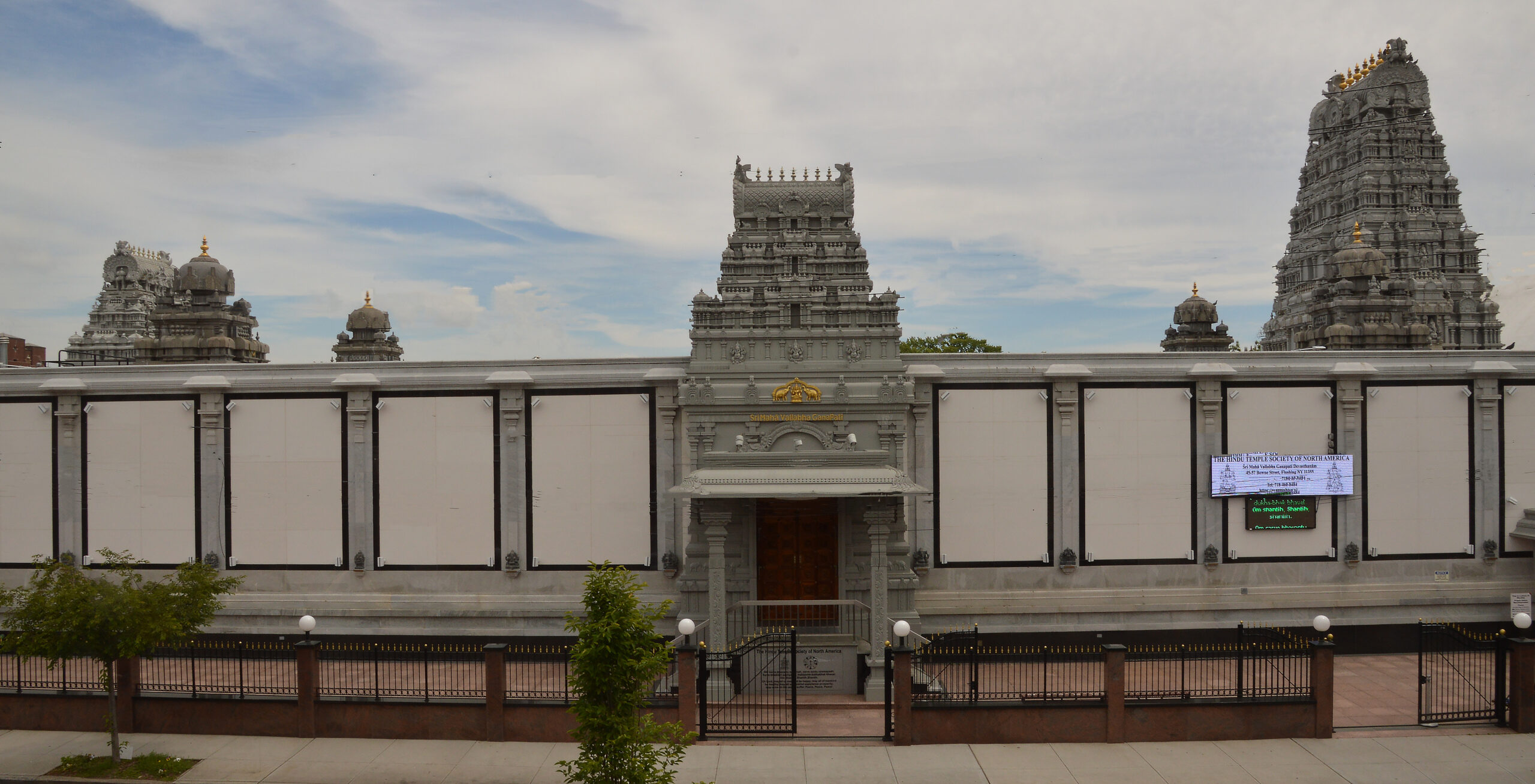 Exterior view of the Temple